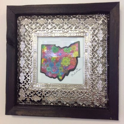 Ohio Framed Print-black-silver Frame
