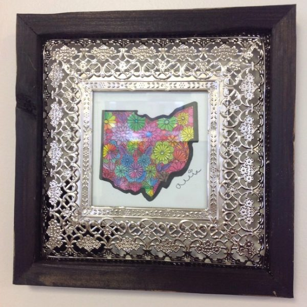 Ohio Framed Print-black-silver Frame